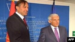 Predsjednici crnogorskog i evropskog parlamenta tokom susreta u Briselu
