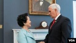 """VOA连线(魏之):陈方安生访问华盛顿称""""一国两制""""受重大威胁"""
