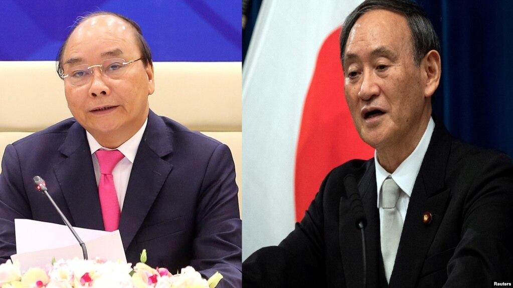 Thủ tướng Việt Nam Nguyễn Xuân Phúc và Thủ tướng Nhật Yoshihide Suga.