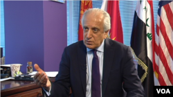 Zalmay Khalilzad, former U.S. ambassador to Afghanistan, Iraq and the U.N., speaks to VOA's Afghan Service in Washington, March 30, 2017.