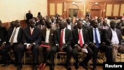 Представники повстанців Південного Судану на переговорах в Аддис-Абебі