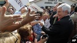 25일 플로리다주에서 선거운동 중인 뉴트 깅그리치 전 하원의장