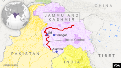 Map Of India And Pakistan Border.5 Dead In New Year S Eve Clashes On India Pakistan Border