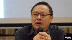 香港大學法律系副教授戴耀廷。(美國之音湯惠芸拍攝)