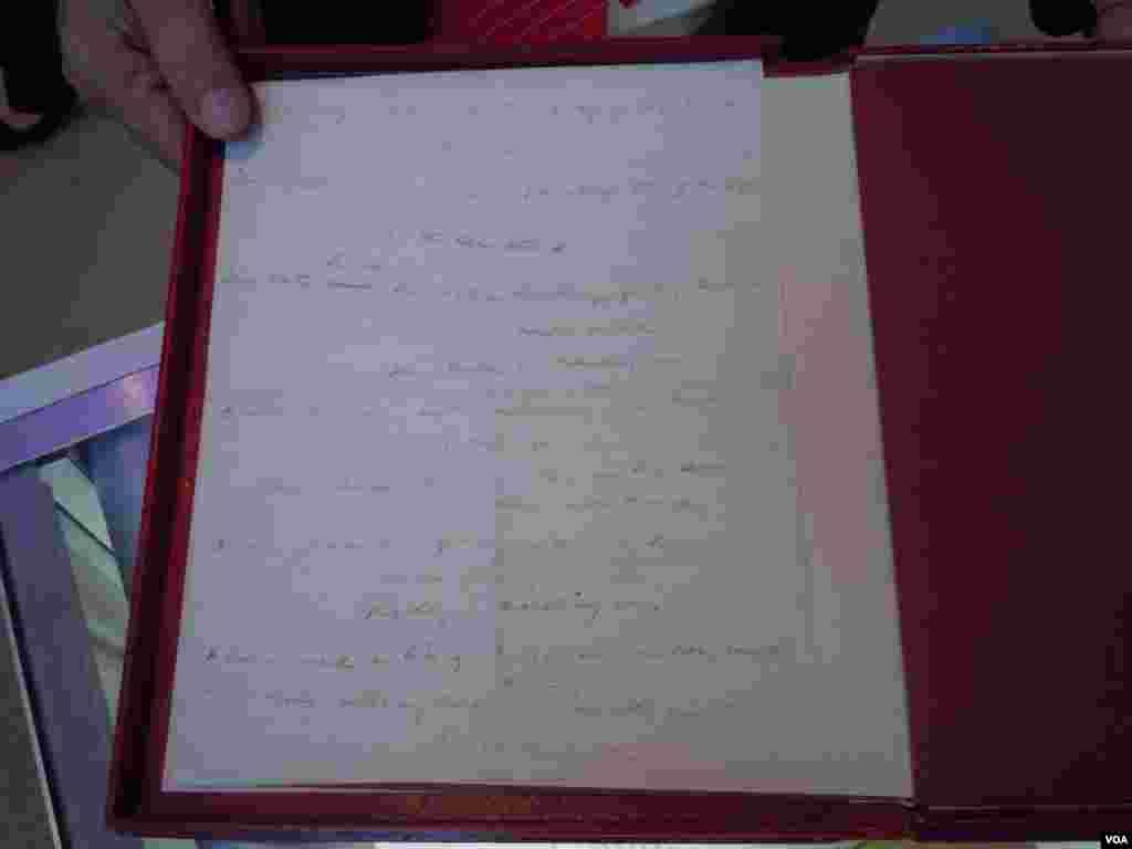 "The original draft of ""The Battle Hymn of the Republic"" written by Julia Ward Howe in November 1861."
