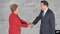 巴西总统罗塞夫会见中国总理李克强