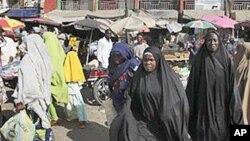 Wata kasuwa a Maiduguri, Nijeriya