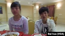 中國選手小丹(左)和小劉 (美國之音白樺拍攝)