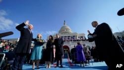 拜登宣誓就任美国第46任总统。