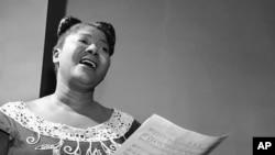Mahalia Jackson, 'Queen of the Gospel Singers,' in 1955.
