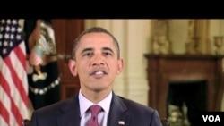"""Presiden Obama memuji VOA karena menyediakan berita-berita """"akurat dan obyektif""""."""