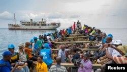 满载非洲难民的联合国船只(资料图)