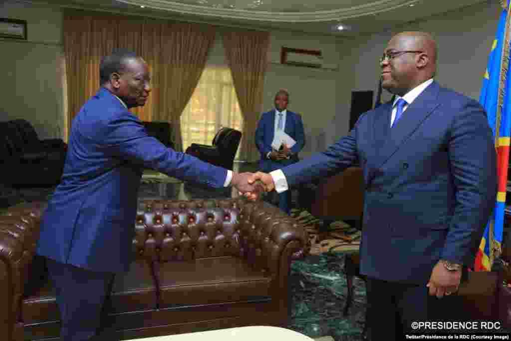 Sylvestre Ilunga Ilunkamba kumwe na Prezida Felix Tshisekedi