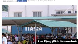 Một cuộc đình công tại Việt Nam.