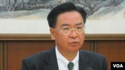 台湾外长吴钊燮2019年3月14号与外籍媒体茶叙就当前情势发表看法。