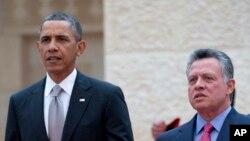باراک اوباما رئیس جمهوری آمریکا و ملک عبداﻟله پادشاه اردن - آرشیو