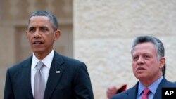 Barack Obama et le roi Abdallah II de Jordanie