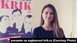 Dragana Pećo, novinarka Mreže za istraživanje kriminala i korupcije (KRIK)