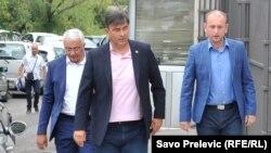 Lideri Demokratskog fronta - Andrija Mandić, Nebojša Medojević i Milan Knežević (slobodnaevropa.org)