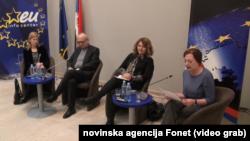 Učesnici panela o izborima u EU i procesu proširenja, Foto: Video grab