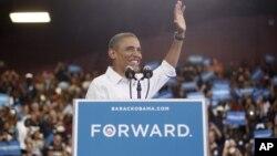 El presidente Barack Obama habló en una escuela secundaria en Toledo, Ohio.