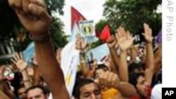 委内瑞拉数千人人权大游行