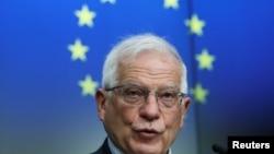 ဥေရာပသမဂၢ ႏိုင္ငံျခားေရးရာမူဝါဒဆိုင္ရာ အႀကီးအကဲ Josep Borrell. (မတ္ ၁၆၊ ၂၀၂၁)