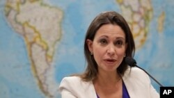 Tokoh oposisi Venezuela Maria Corina Machado.