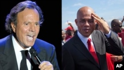 Julio Iglesias (çep) û Michel Martelly.