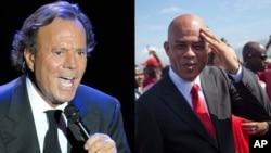 Julio Iglesias (çep) û Michel Martelly.