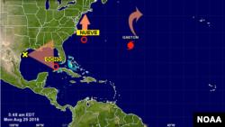 Tres fenómenos son monitoreados en el mar Caribe y el océano Atlántico