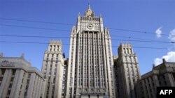 МИД России на Смоленской площади в Москве.