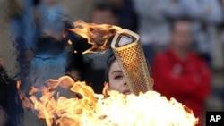 Greece Olympics London Flame