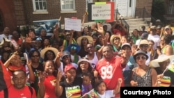 Protesters at the Zimbabwe Embassy in USA.
