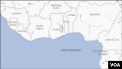 Gine Körfezi haritası