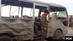 بلخ میں ہونے والے خود کش حملے میں فوج کی ایک بس کو نشانہ بنایا گیا۔