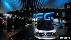 지난달 15일 미국 미시간주 디트로이트시에서 북아메리카 국제 자동차쇼가 열렸다.