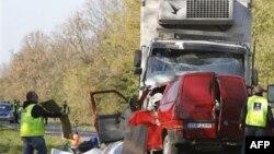 Mesto nesreće u Poljskoj