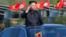 朝鲜领导人金正恩在朝鲜军队建军日检阅军队。(2017年4月25日)