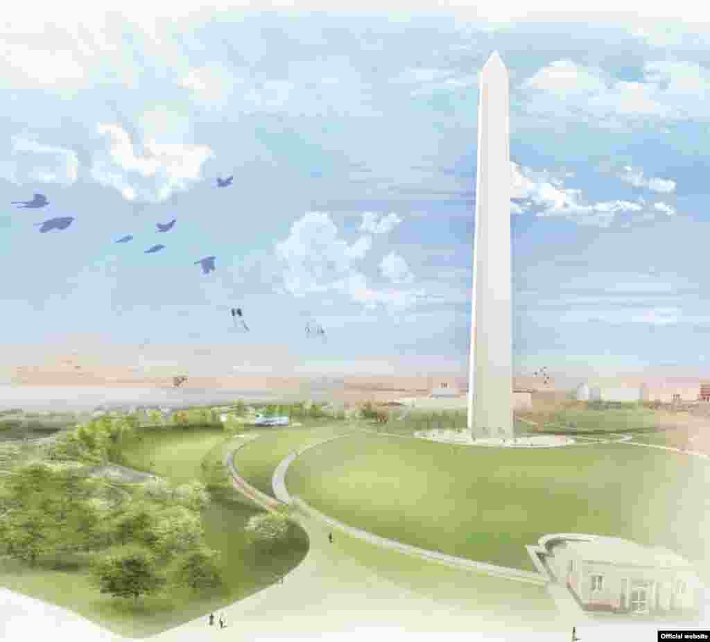 Los terrenos cerca al monumento a Washington por Balmori Associates & Work Architecture Company.
