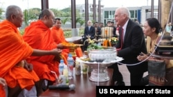 Ceremonies during the opening of new U.S. Embassy in Vientiane