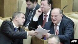 Геннадий Зюганов на заседании Госдумы РФ (архивное фото)