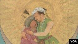 تصویر خیالی اکبرشاه مغول و شاه عباس صفوی، دو قدرت بزرگ شرق