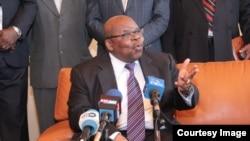 Le facilitateur dans la crise burundaise, l'ancien président tanzanien Benjamin Mkapa, 9 décembre 2016.