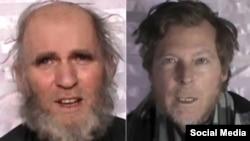 طالبان کے ہاتھوں اغوا ہونے والے امریکی یونیورسٹی کے دو پروفیسر (فائل)