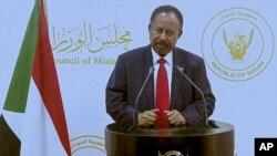 Abdalla Adam Hamdok, primeiro-ministro do Sudão intervém na Assembleia Geral da ONU, virtualemente, 25 de Setembro de 2021