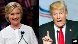 Calon Partai Demokrat Hillary Clinton dan calon Partai Republik Donald Trump menyampaikan pandangan yang bertentangan soal pembantaian Orlando (foto: dok).