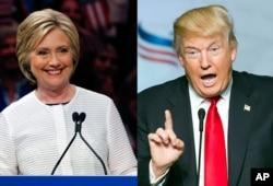 希拉里·克林顿和唐纳德·川普