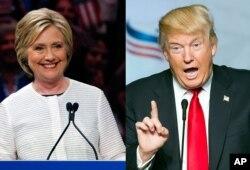 Hillary Clinton and Donald Trump. (AP)