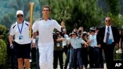 倫敦奧運會的火炬早前已經在希臘開始接力傳送。
